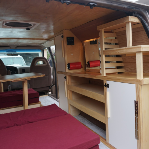 astro camper van conversion, golden colorado